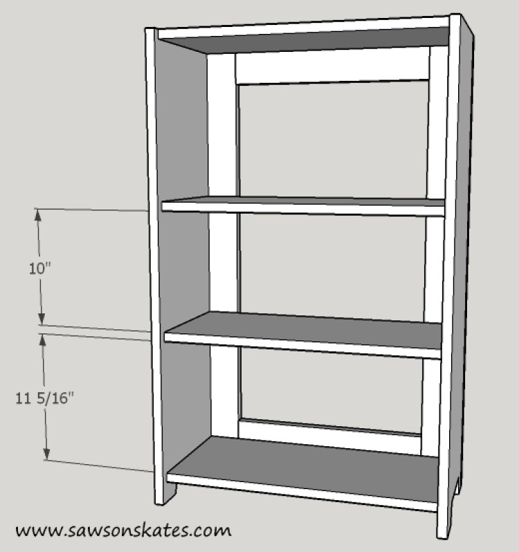 basement window cabinet shelf installation