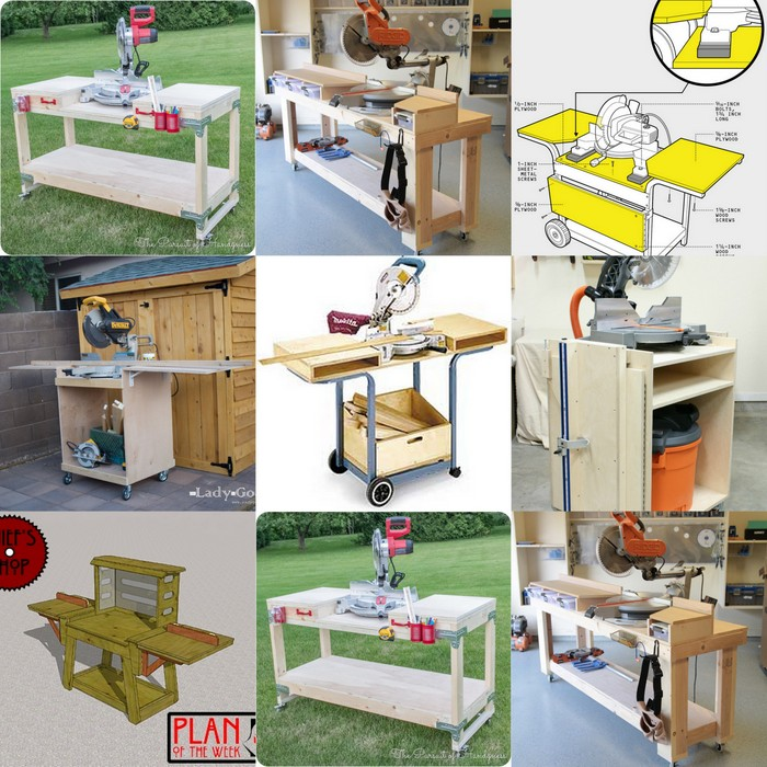 7 Diy Space Saving Miter Saw Stand Plans For A Small Workshop