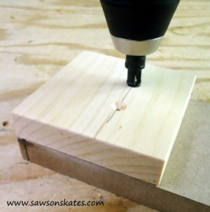 stocking holder countersink