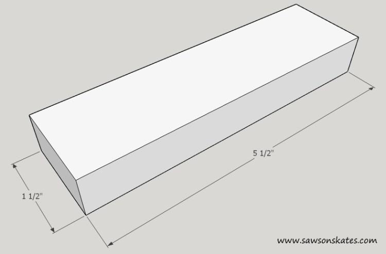Tablet Holder Long Bottom