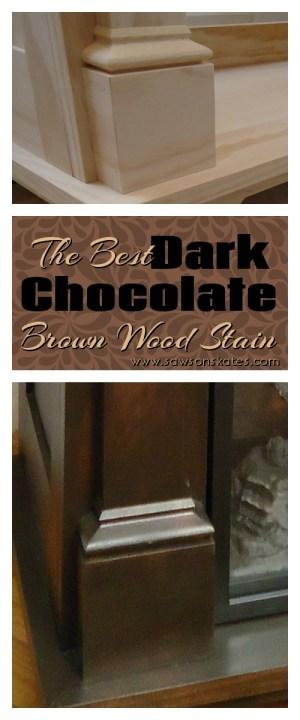 Dark Chocolate Brown Wood Stain