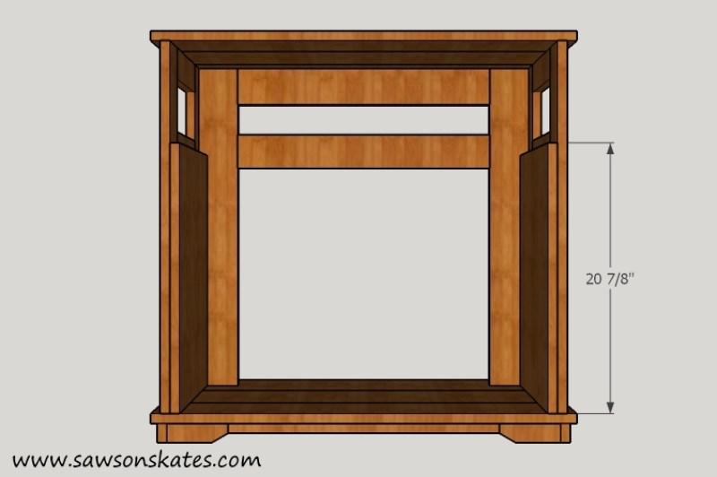Fireplace Bottom Side Panel