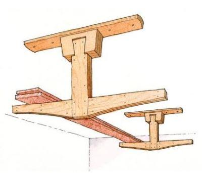 Overhead Lumber Rack