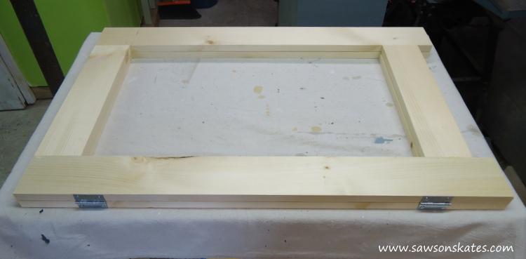 folding workbench hinge installation