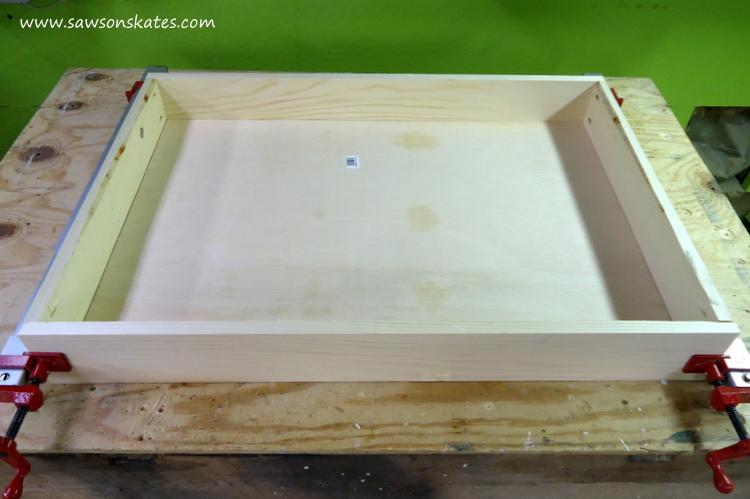folding workbench top installation 1