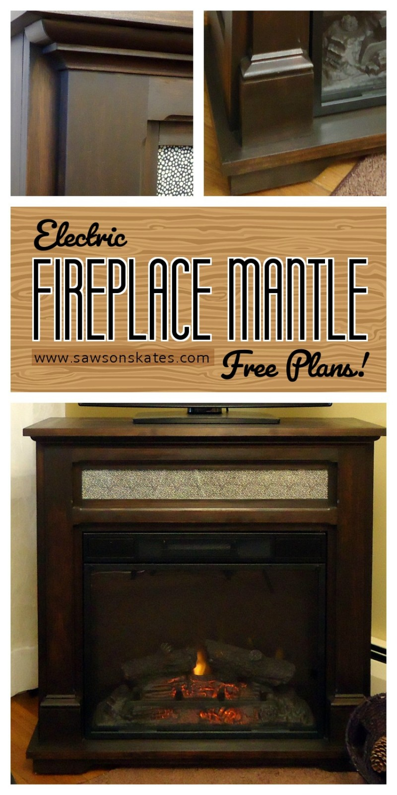 how to make an electric fireplace mantle free plans