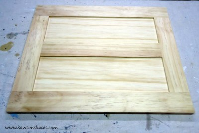 vanity door assembled