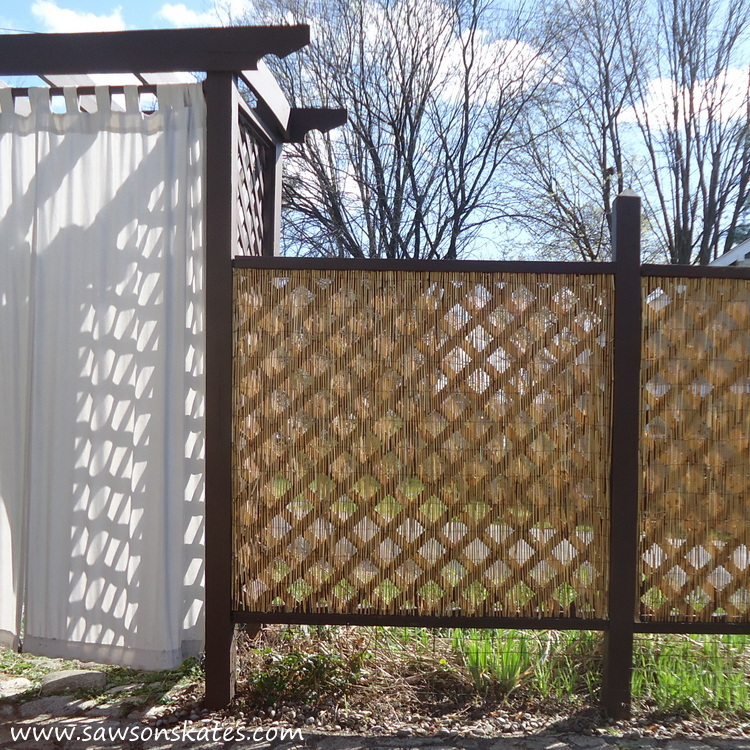 DIY Privacy Fence after south