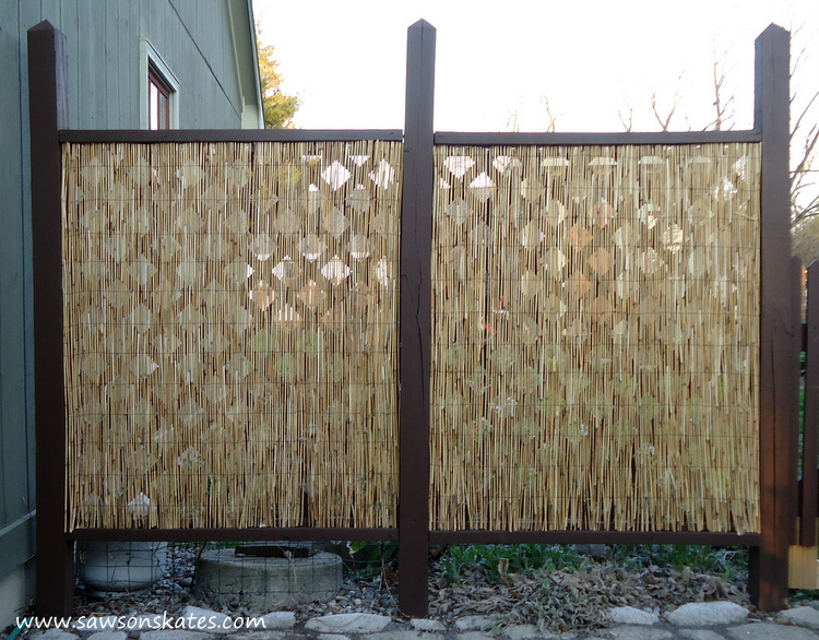 DIY Privacy Fence after west