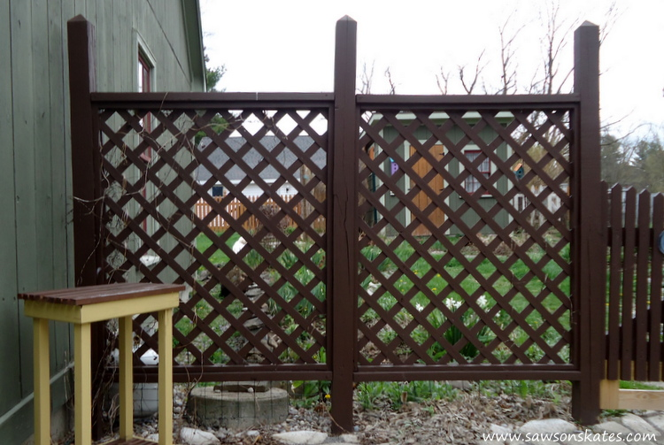 DIY Privacy Fence before west