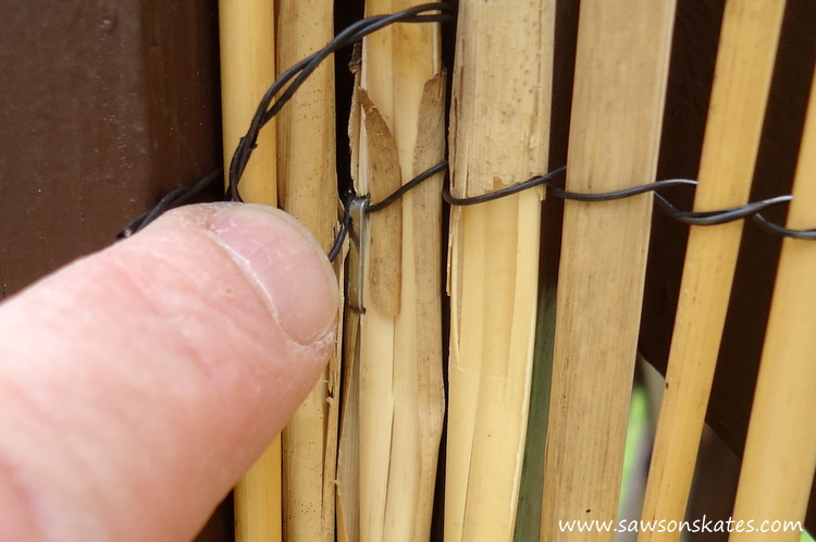 DIY Privacy Fence stapled