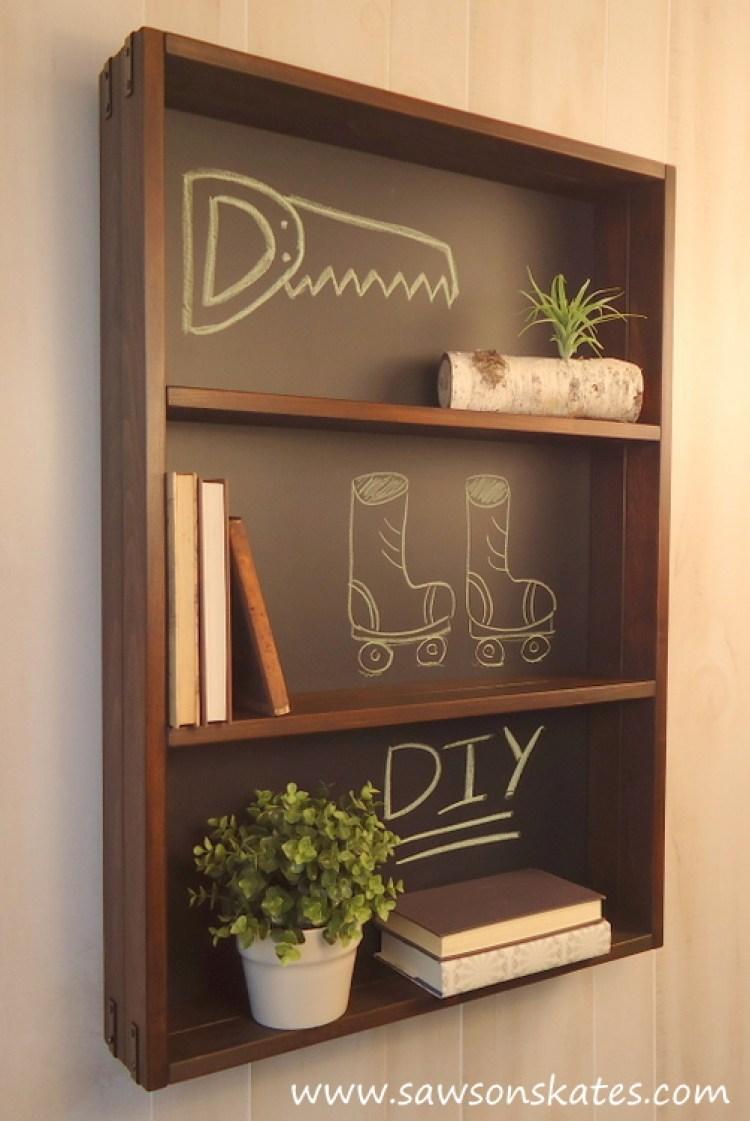 diy chalkboard shelf 3
