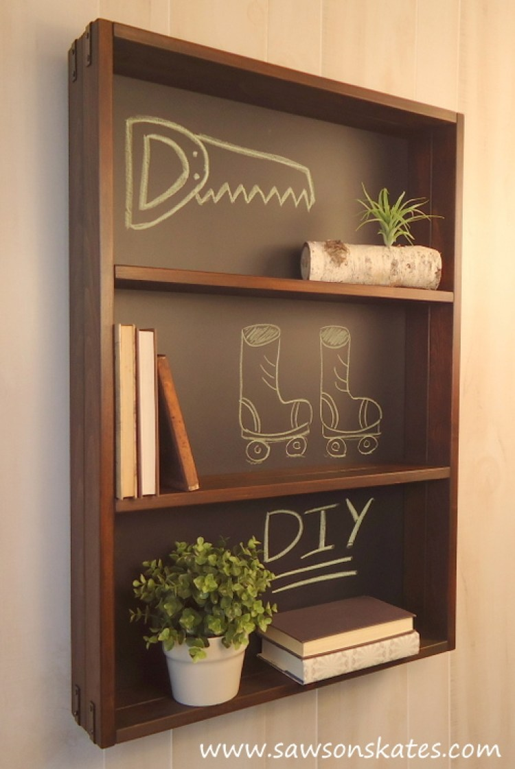 diy chalkboard shelf 3