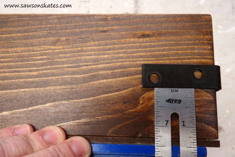 DIY Chalkboard Shadowbox center bracket