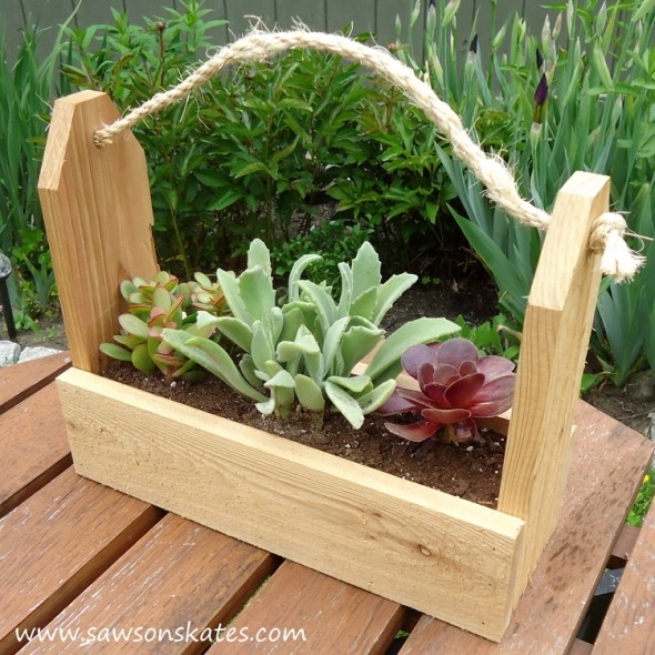 diy tool caddy planter finished 1