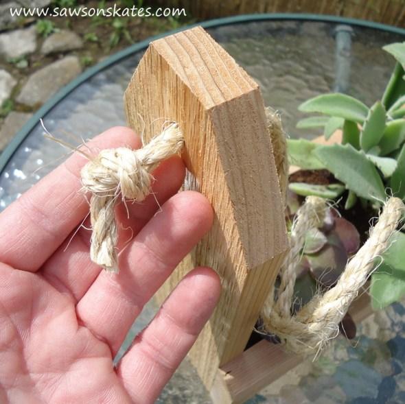 diy tool caddy planter install rope