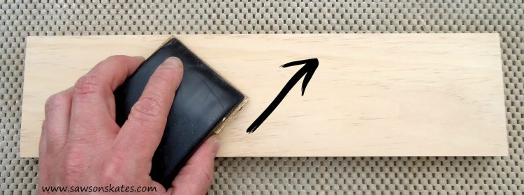 how to sand diagonal