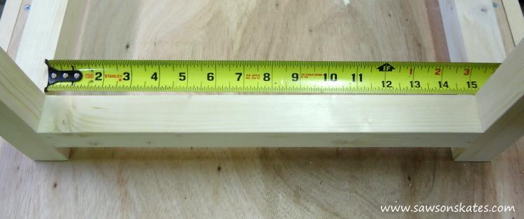 diy bar cart measure for bottom