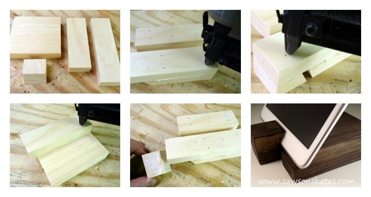 diy scrap wood gifts tablet holder 1