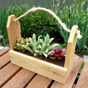 DIY Rustic Tool Caddy Planter