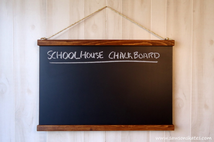 I love chalkboard ideas! This DIY knockoff chalkboard is so easy to make and costs a fraction of the original! Perfect for lovers of antique style pieces, as menu board or in a kid's room!