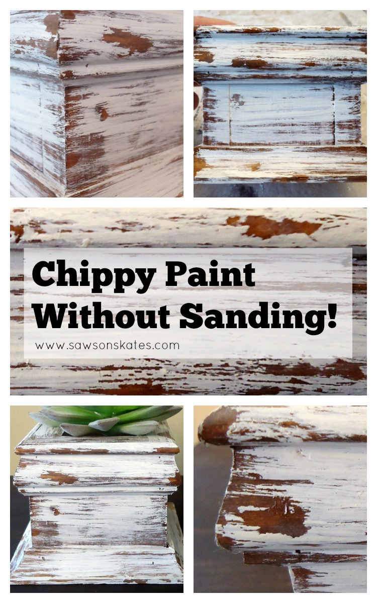 Love chippy paint tutorials and especially love this NO SANDING technique! Definitely using this on my next DIY project!