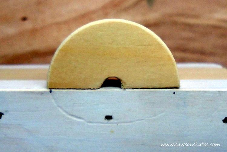 DIY Painted Wooden Vintage Camper Napkin Holder - Fit the wheels