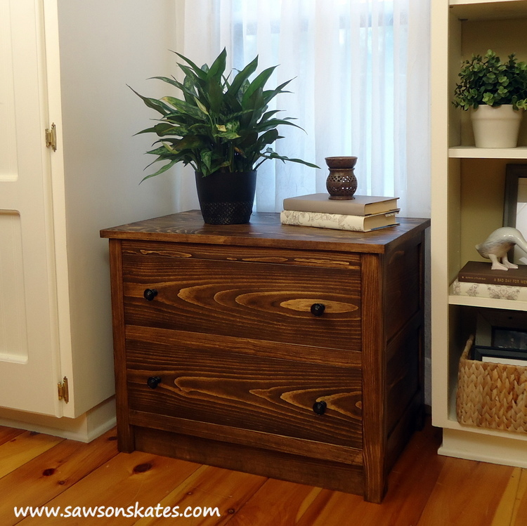 """This is the """"coolest"""" DIY dresser you'll ever build! It's the shell of a dresser that slides over an air conditioner when not in use. It's like a cozy for your a/c!"""