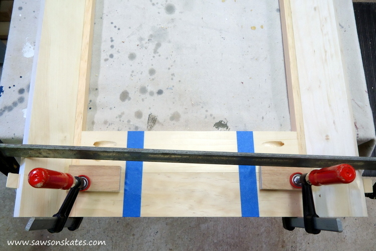 DIY Corner Cabinet - assemble the corners