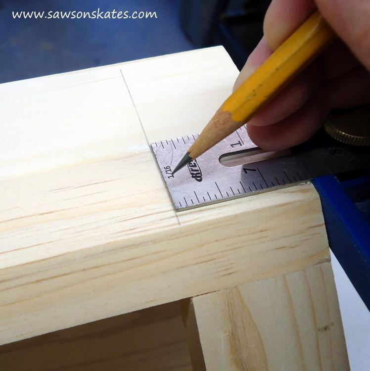 DIY Corner Cabinet - install the side moulding 2