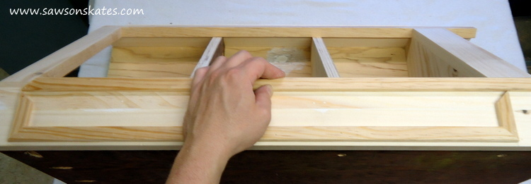 DIY Corner Cabinet - install the side moulding 5