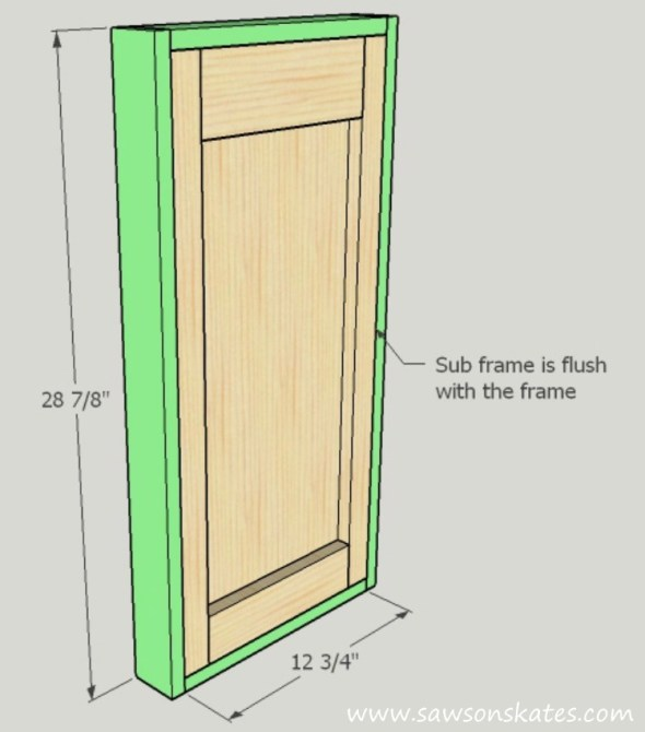 diy-kitty-litter-cabinet-side-frame