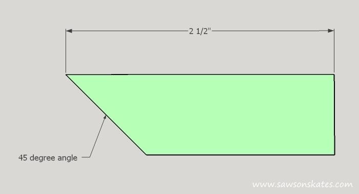 DIY Corner Cabinet - wide corner dimensions