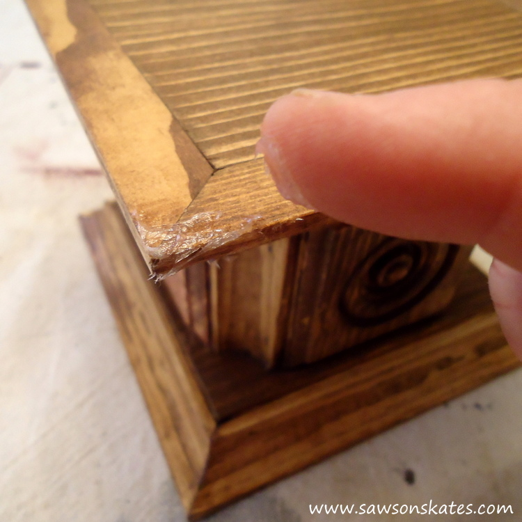 Easy wooden DIY candle holder - apply petroleum jelly
