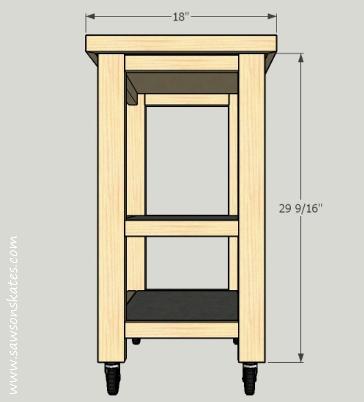 A grandmother has for one wish from Saws on Skates... plans for a DIY Kitchen Island. Her wish comes true with this easy to build, small space kitchen island on wheels!