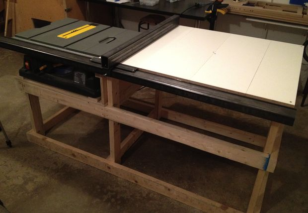 6 DIY Table Saw Stations for a Small Workshop - Table Saw Station by Confounded Machine/Instructables