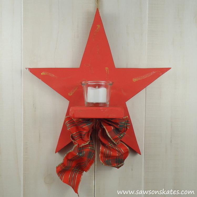 DIY Rustic Wood Star Sconce - inspiration