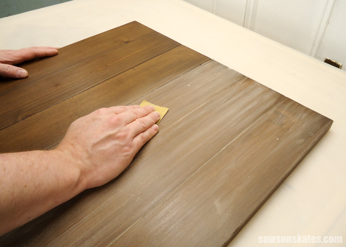 How to spray polyurethane - sand between coats