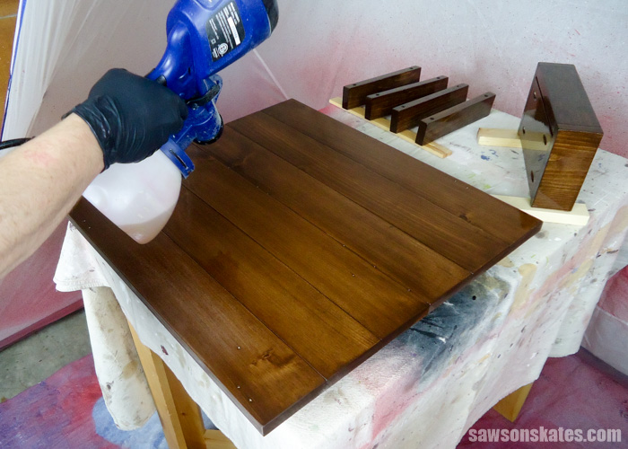 Best DIY tips - spraying polyurethane is so much easier than applying with a brush