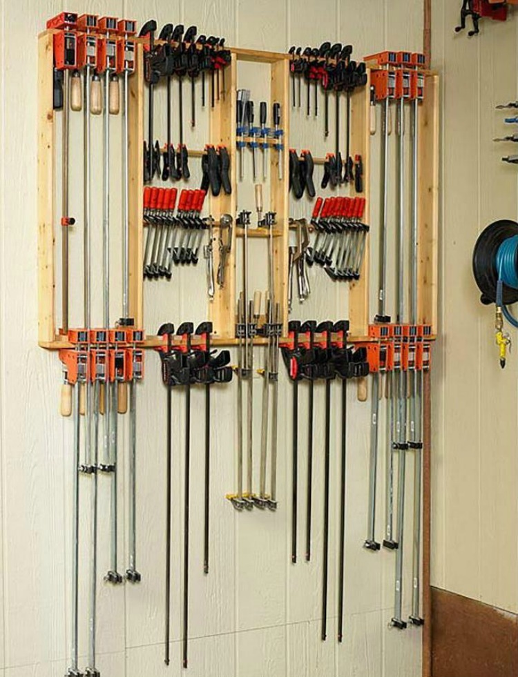 7 Clever Clamp Storage Ideas For A Small Workshop