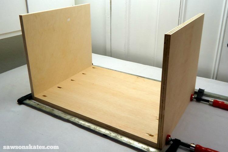 DIY Mid Century Modern Nightstand   Carcass Assembly 1
