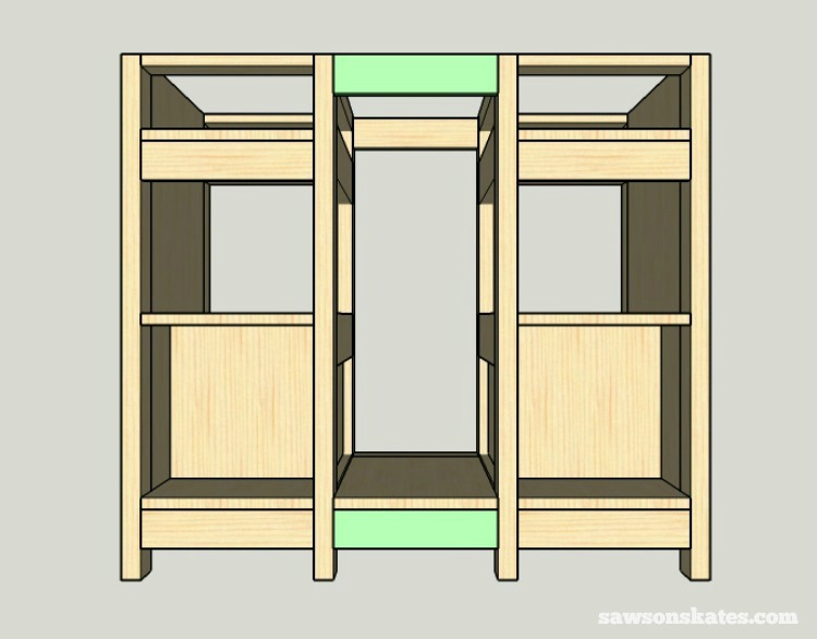 DIY Wine Credenza ­- Wine Cabinet - middle assembly 3