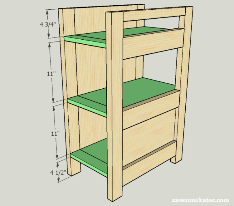 DIY Wine Credenza - Wine Cabinet - side cabinet assembly