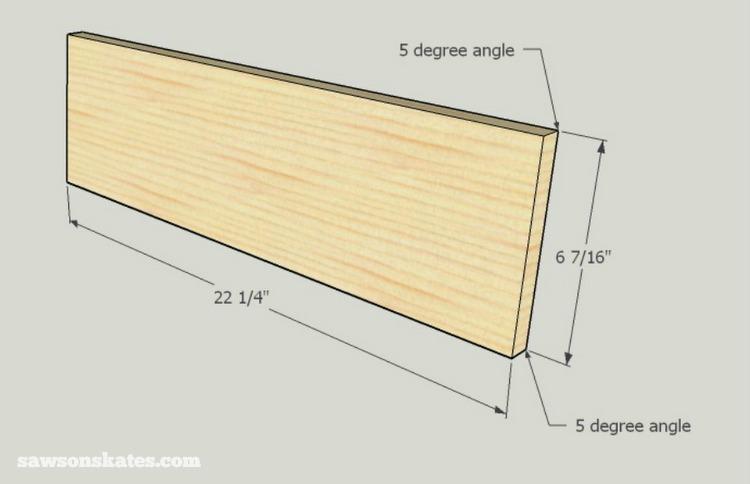 DIY Mid-Century Modern Nightstand - drawer front