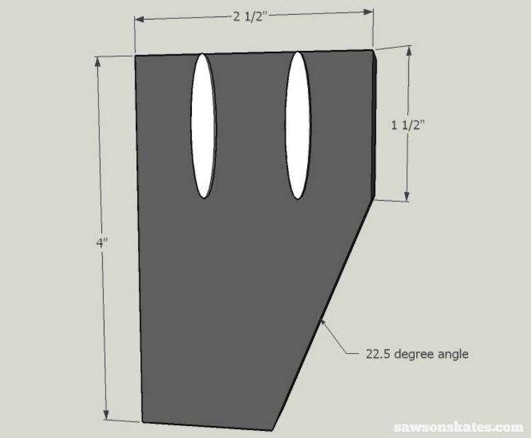 DIY Mid-Century Modern Nightstand - leg