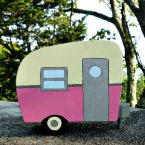 DIY Painted Wood Vintage Camper Napkin Holder