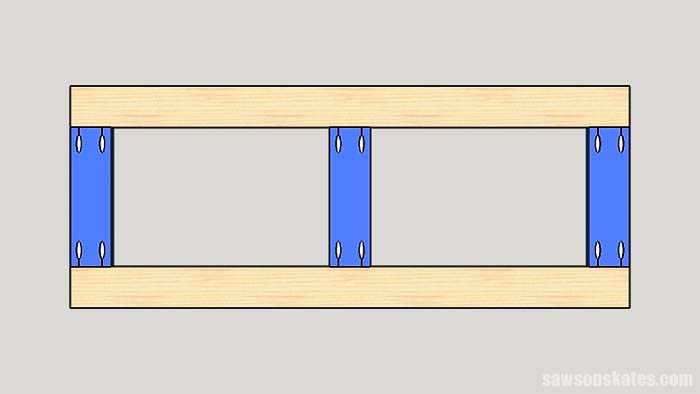 Pocket holes need to be drilled into the ends of a board when creating butt joints.