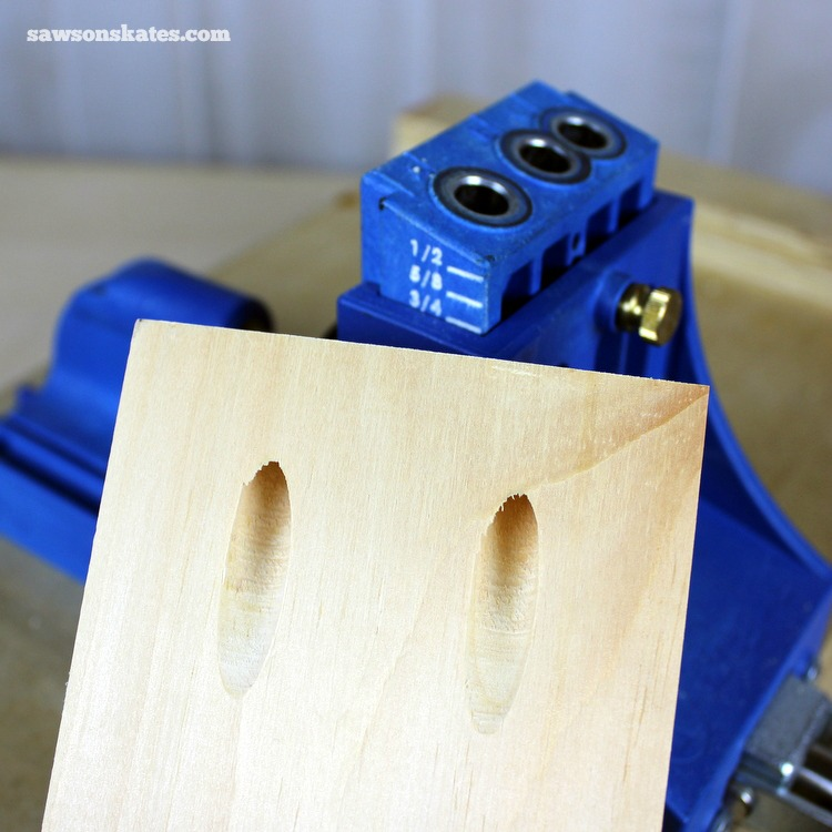 Want to know how to use a Kreg Jig? This tutorial gives tips for avoiding mistakes when drilling pocket holes for DIY projects