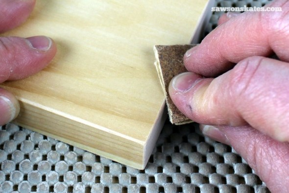 3 Tips Why You Should NEVER Use a Palm Sander - ease the edges of DIY furniture with a sanding block or sandpaper