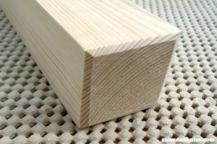 3 Tips Why You Should NEVER Use a Palm Sander - sanding a bevel on DIY furniture legs helps to reduce chipping and tearing